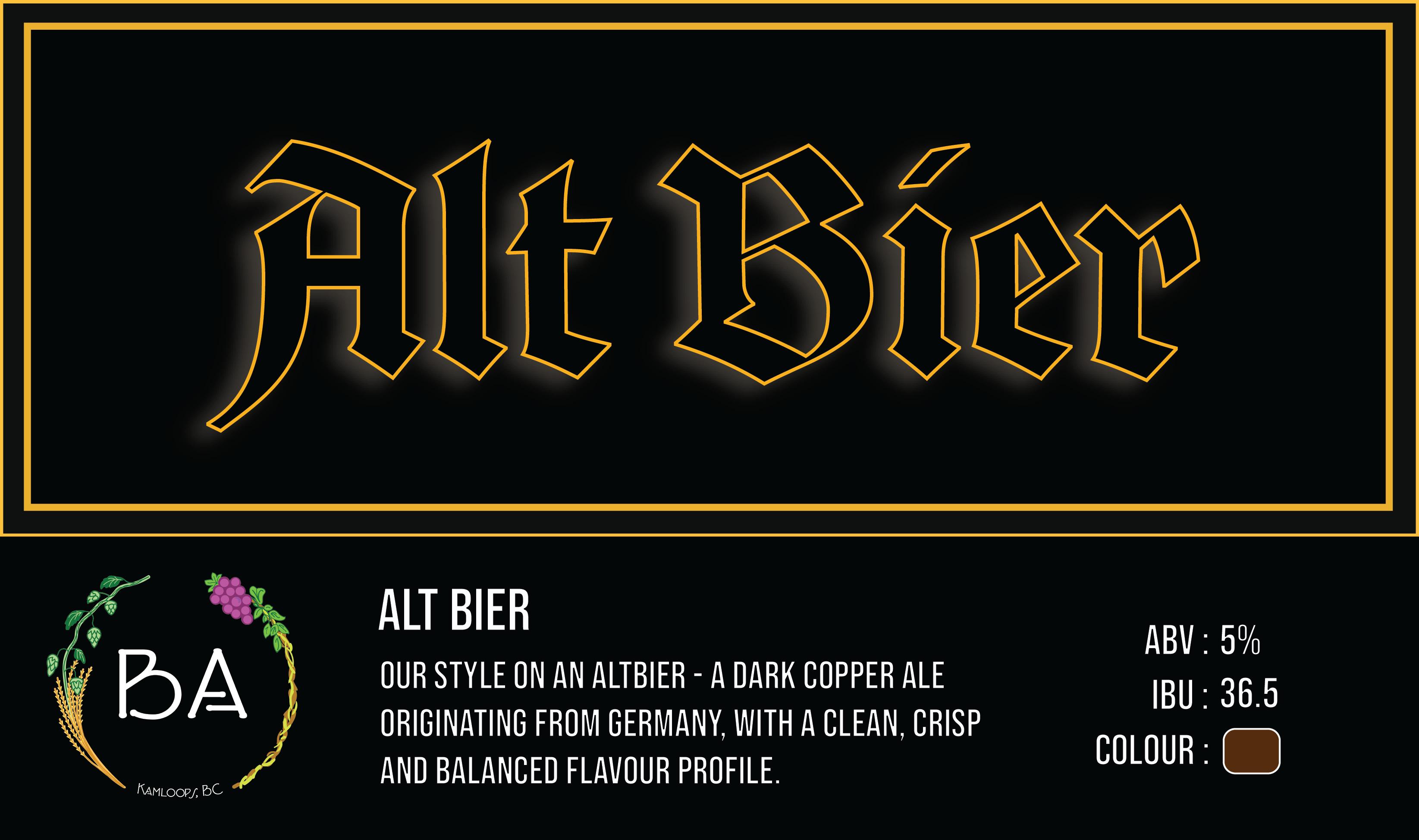 BA Alt Bier Craft Beer